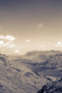 Haystacks, lake district, ennerdale, buttermere, gradient map,