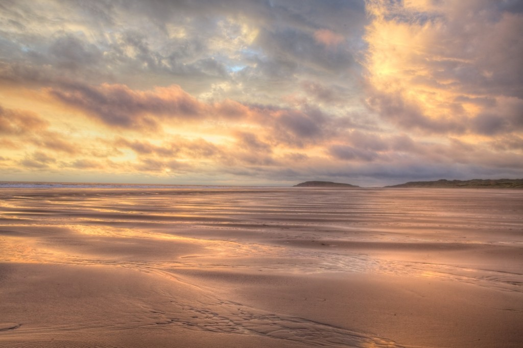Rossilli Bay, Gower, South Wales, Landscape, Sea, sunset, HDR, Llangenith,