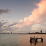 Australia, evening, melbourne, pier, sea, St Kilda, sunset, victoria